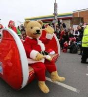 Billy Bear gets dressed up and joins Santa for a sleigh ride!