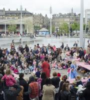 We provided our Mad Hatter's Tea Party show for huge crowds at Bradford's Literature Festival.