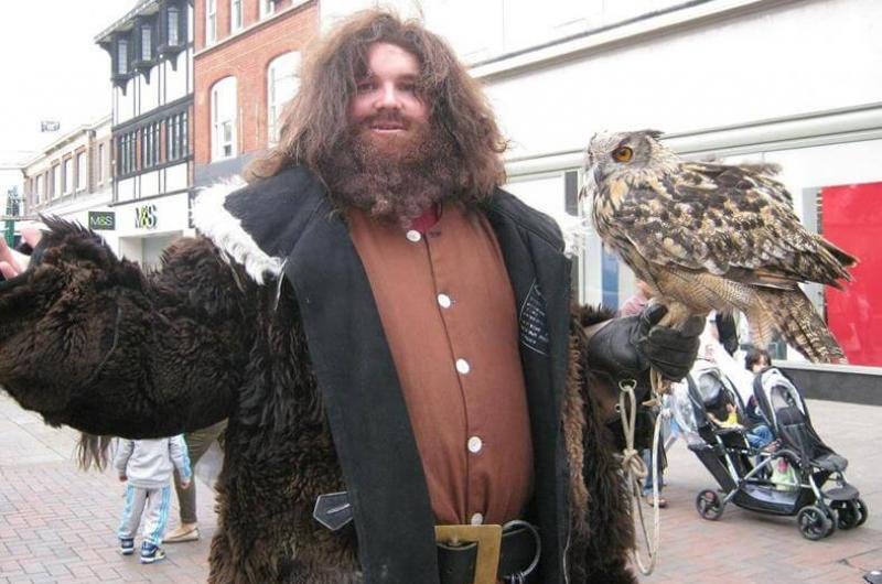 One of our lookalike performers as everyone's favourite half-giant, Hagrid!