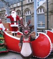 Santa on his Sleigh, with Rudolph the Reindeer at the helm!