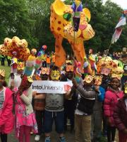 As well as masks, banners, wicker animal floats ... and the odd parrot on a stick! These designs were produced for Beeston Festival 2016.