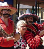 Mother's Day! Los Romanticos were out and about to serenade the lovely señoras!