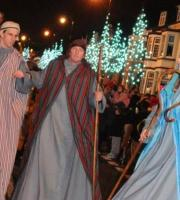 Closely followed by the three Shepherds!