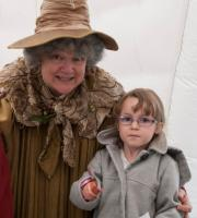 Q20's Jacquie Lambert provides our lookalike performance for Professor Sprout ... who is often used to lead plant-based workshops!