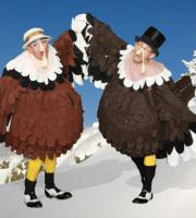 Tap Dancing Turkeys: Everybody loves turkey at Christmas ... and even better when the turkey does a tap dance!