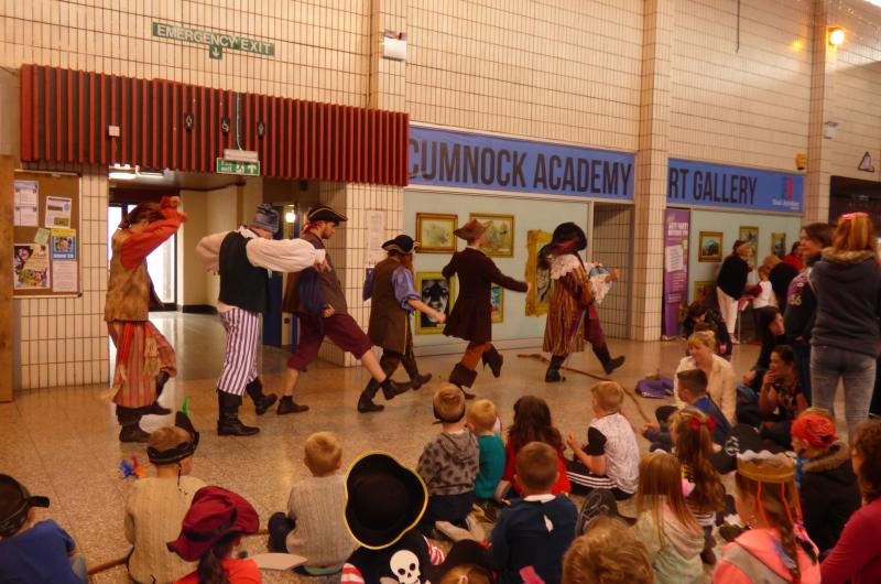 In February, the Pirates sailed the seven seas and went to Cumnock in Ayrshire - on the search for new recruits for their ship, the Scurvy Shark!