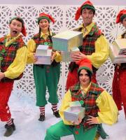 Christmas Elves! Santa's little helpers are great for grottos - they help Santa hand out gifts, and can even take pictures of the visitors for a precious keepsake!