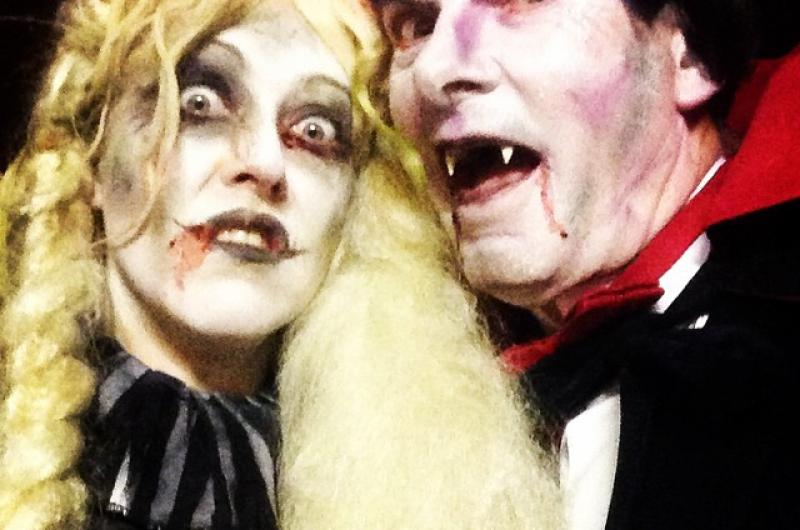Our Dracula and his Bride returned to East Lancs Railway for another year of Spooky Trains.