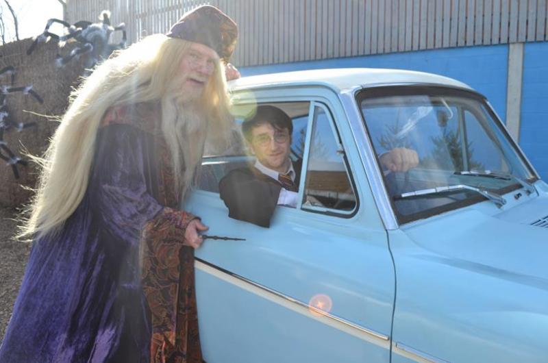 In paying tribute to the original characters, we provide fantastic attention to detail - including costumes, the Ford Anglia car, the Sorting Hat ...
