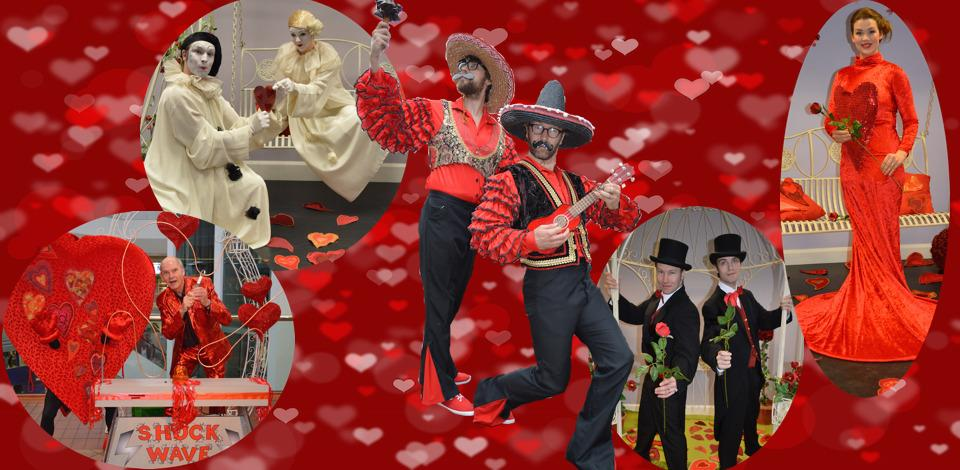 Choose from our delightful selection of performers for Valentine's and other romantic events.