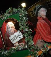 What the Dickens! Celebrate Christmas with everyone's favourite Dickensian delight: Mr Scrooge and his amazing carol singing carriage.