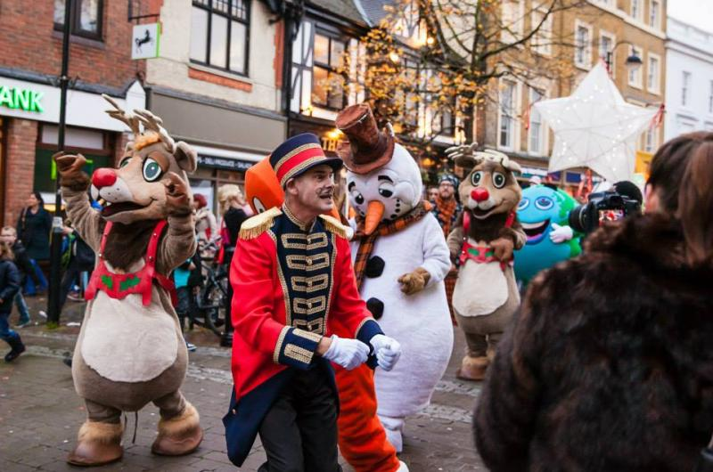 Christmas Parades are always popular with Rudolph and Frosty the Snowman in the line-up!